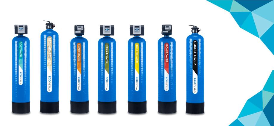 seria Ecoperla Tower - wydajne uzdatnianie wody
